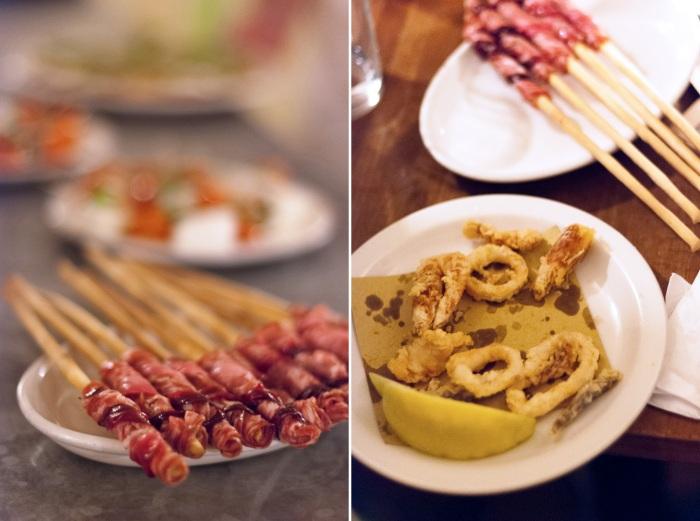 Cicchetti At restaurant Polpo in Soho, London
