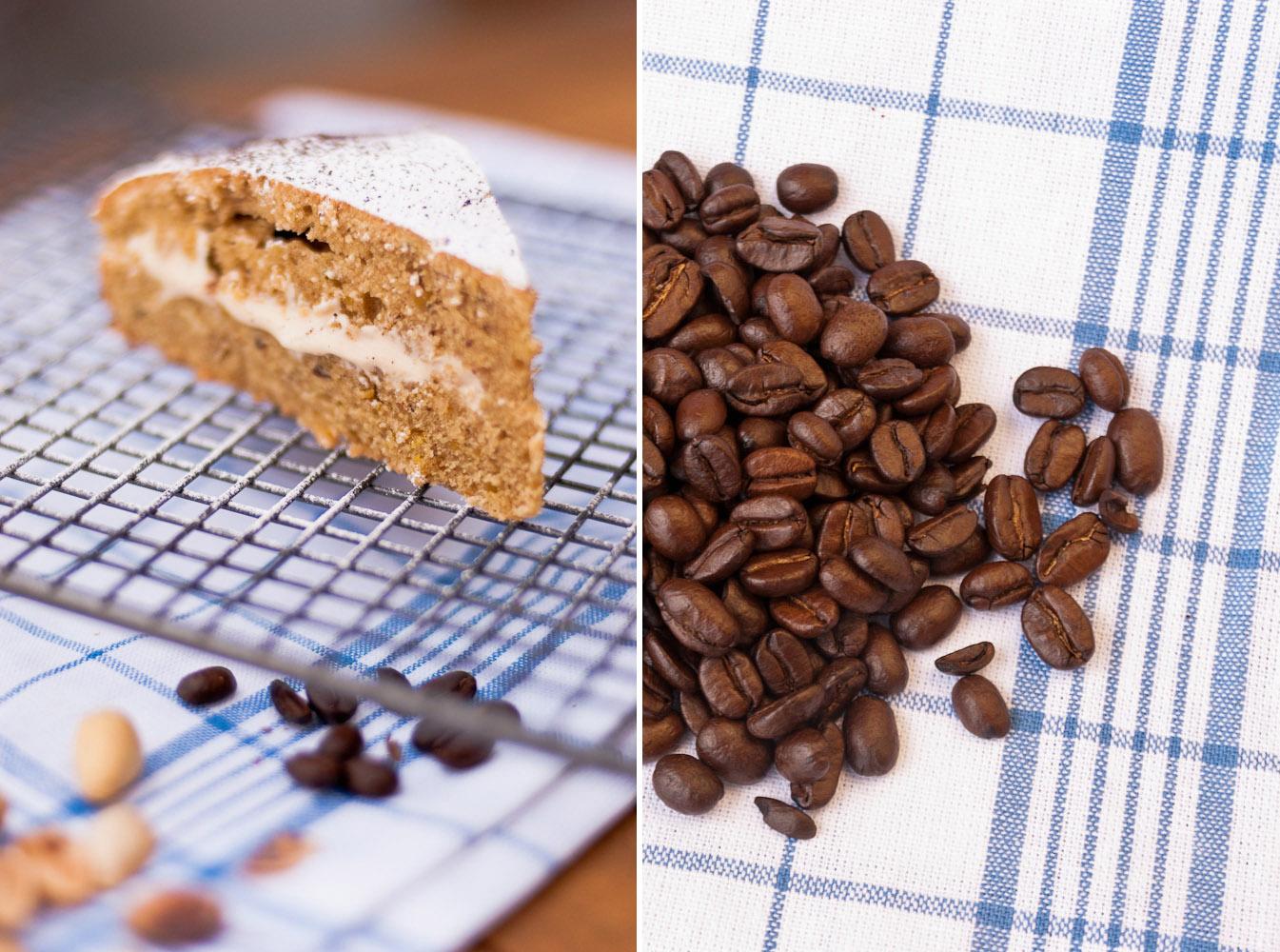 Pistachio and Coffee Cake