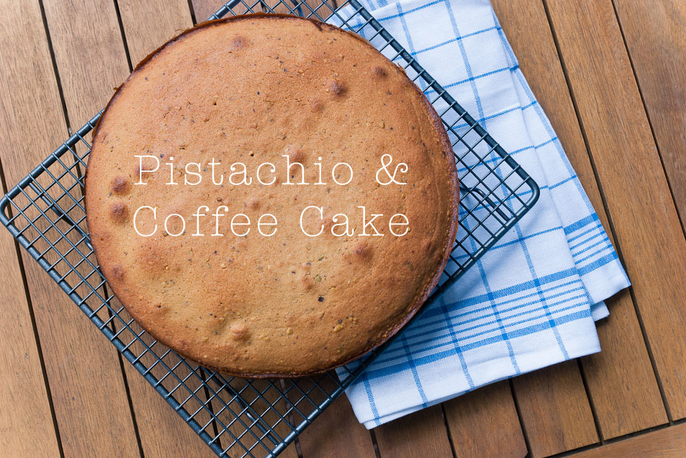 Pistachio and Coffee Cake