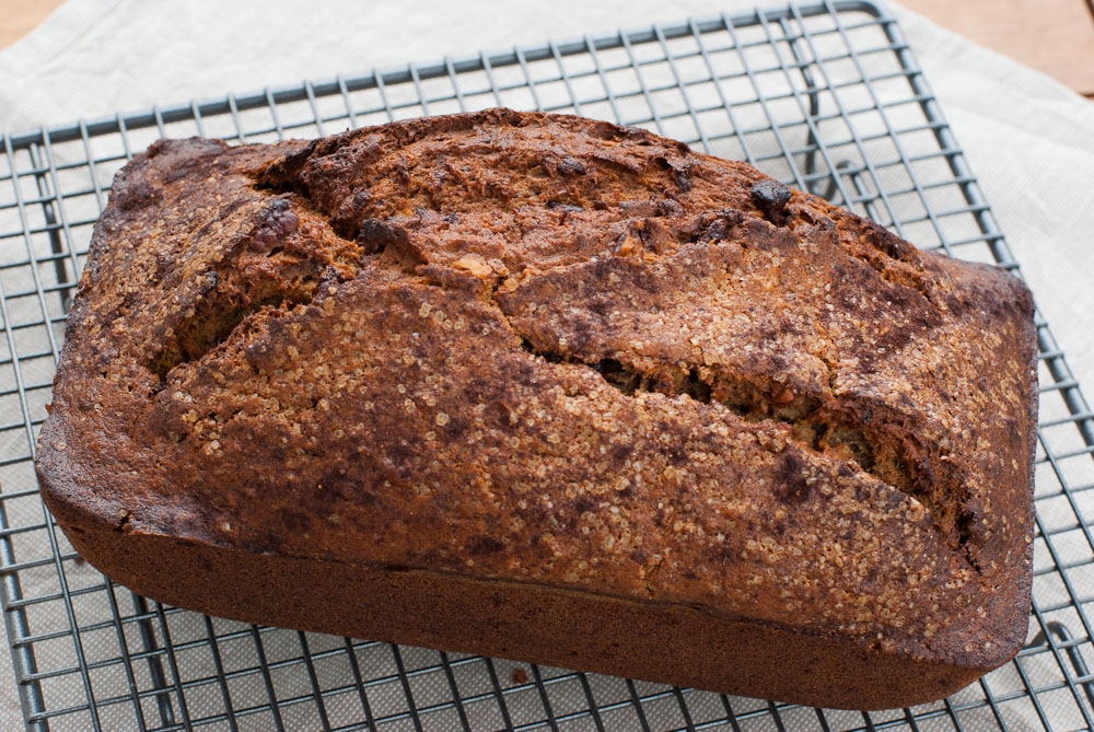 Banana Bread with Pecans and Dark Chocolate